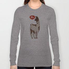 the llama me gusta! Long Sleeve T-shirt