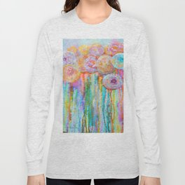 Colorful Flowers Abstract Long Sleeve T-shirt