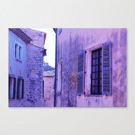Ancient purple village Canvas Print