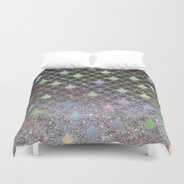 Mermaid scales ombre glitter #2 Duvet Cover