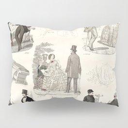 Biedermeier Couples Pillow Sham