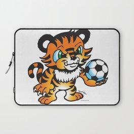 Soccer Tiger (color) square Laptop Sleeve