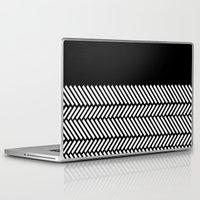 herringbone Laptop & iPad Skins featuring Herringbone Boarder by Project M