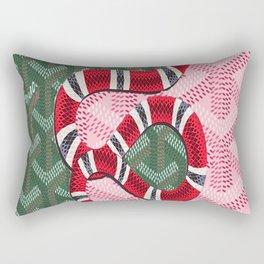 Guci Snake Goyard Rectangular Pillow