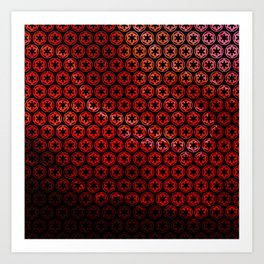 Imperial Cogs Over a Red Sky Art Print