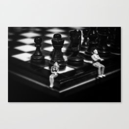 Make a Move Already from the Game of Life Series Chess Canvas Print