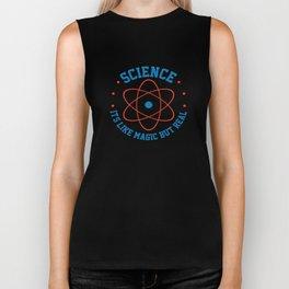 Science Is Like Magic But Real Atom Teacher Gift Biker Tank