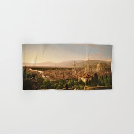 View of the Duomo and Florence, Italy by Thomas Cole Hand & Bath Towel