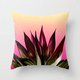 Bold Sunset Agave Fringe Illustration Throw Pillow
