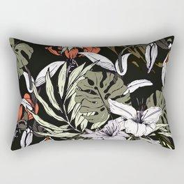 Dark tropical pattern I Rectangular Pillow