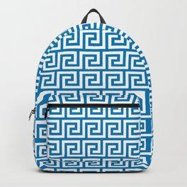 Greek Key Ibiza Blue Backpack
