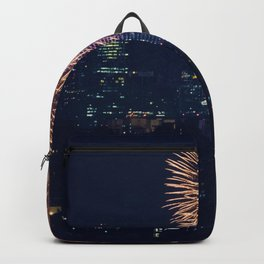 Fireworks in the City (Color) Backpack