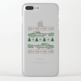 Trucker Christmas Clear iPhone Case