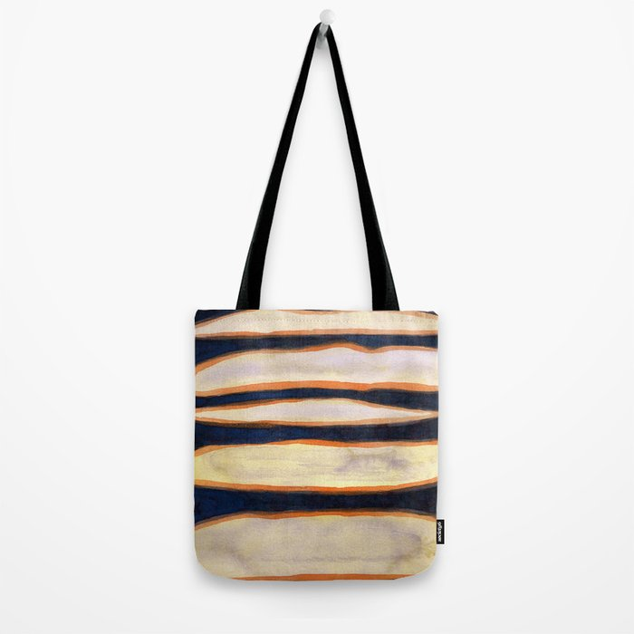 Green Cloud over Floating Shapes Tote Bag