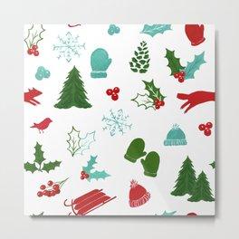 Winter Wonderland - Blue Metal Print