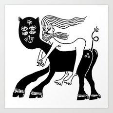 Kitty Love - Runaway Art Print