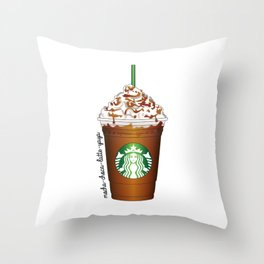 Caramel Frappucino Throw Pillow