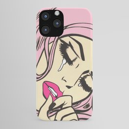 Pastel Pink Sad Girl iPhone Case