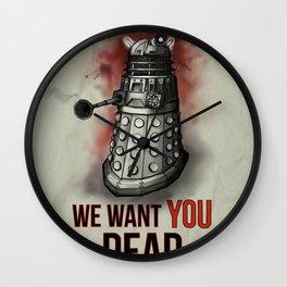 We Want You (No Border) Wall Clock