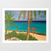 Antigua Resort Art Print