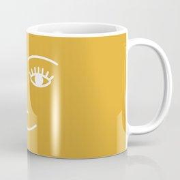 wink / mustard Coffee Mug