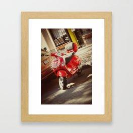 vespa in the city Framed Art Print