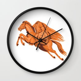 Headless Horseman Pumpkin Head Drawing Wall Clock