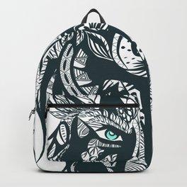 Wolf Head Tribal Illustration Backpack