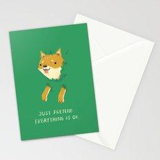 bush shiba Stationery Cards