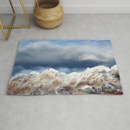 Desert Mountains with Snow-Barbara Chichester Rug
