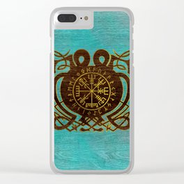 Vegvisir - Viking  Navigation Compass Clear iPhone Case