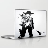 carl sagan Laptop & iPad Skins featuring Carl Grimes  by Black And White Store