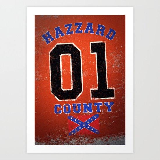 The Duke's a Hazzard! Art Print