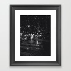 RAINY BOKEH B&W Framed Art Print