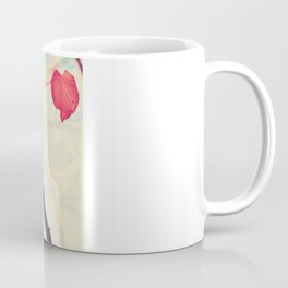 Our hearts are autumn leaves waiting to fall (Pink - Red fall leafs and brilliant retro blue sky) Coffee Mug