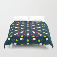 polka dots Duvet Covers featuring Polka Dots by The Blonde Dutch Girl