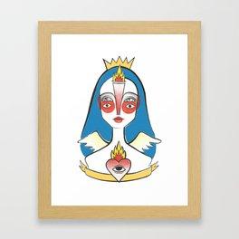 Coração em Chamas Framed Art Print