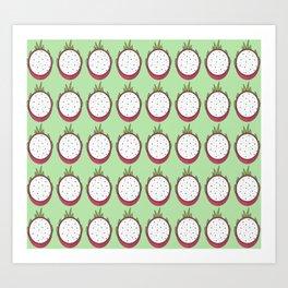 Dragon fruit pattern Art Print