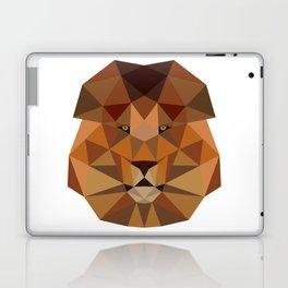 Lion head geometric polygon gift idea line hipster Laptop & iPad Skin