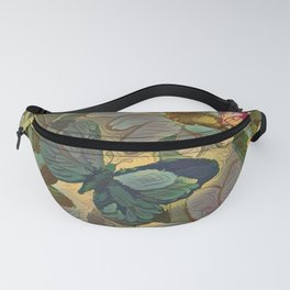 Painterly Flowers and Butterflies Fanny Pack