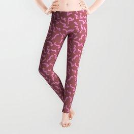 Pink Memphis Squiggle Pattern Leggings