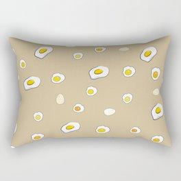 Egg Pattern Sand Art Print Cartoon Egg Yolks Modern Style Rectangular Pillow