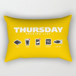 THURSDAY - The Hitchhiker's Guide to the Galaxy Packing List Rectangular Pillow