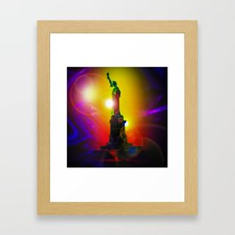 New York NYC - Statue of Liberty 10 Framed Art Print