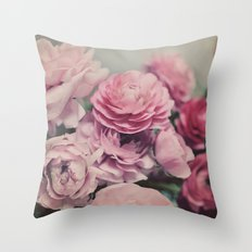 quiet ranunculus Throw Pillow