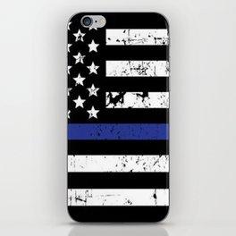 Police Thin Blue Line Flag iPhone Skin