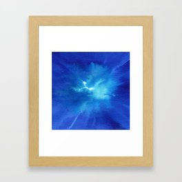 Blue Powder Framed Art Print