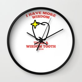 Dental Dentist Occupation mouth Gift Wall Clock