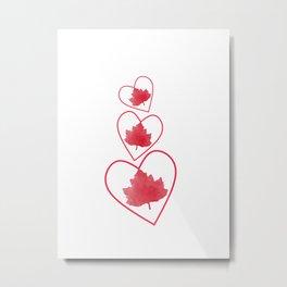 I Love Canada Metal Print