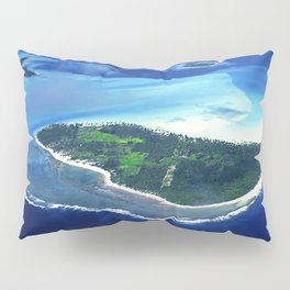 Tropical French Polynesia: View From Open Doors of Helicopter Pillow Sham